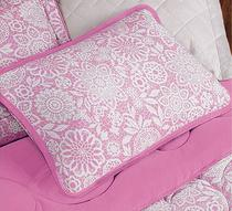 Jogo de lençol casal padrão malha 100% algodão 3 peças rosa - MC Enxovais