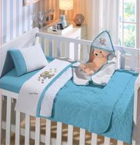 Jogo de Lençol de Berço Americano Linha Baby Malha 100% algodão 3 Peças Buettner -