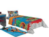 Jogo de lençol infantil microfibra hot weels lepper kids -