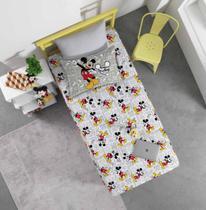 Jogo de Lençol Infantil Solteiro Malha Joy Disney - Mickey Fun - Portallar