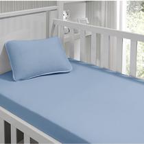 84a197460f Jogo de Lençol Tecebem Baby Malha 2 Peças Kinder Azul