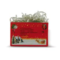 Jogo de Luzes De Natal 100 Leds Branca - Chibrali -