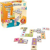Jogo de Madeira Dominó Números - 28 peças - Nig
