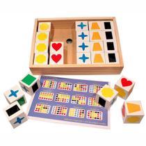 Jogo de Memória Educativo Cubos Para Atividade Método Teacch - Carimbras