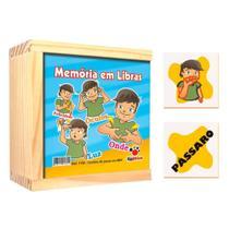 Jogo De Memória Libras 40 Peças Madeira 1156 Ciabrink -