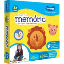 Jogo de Memória Português, Inglês e Espanhol - Toyster -