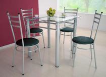 Jogo de Mesa com 4 Cadeiras Tulipa Branco - Marcheli -