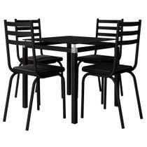 Jogo de Mesa Malva 107x75 cm e 4 Cadeiras 118 - Artefamol -