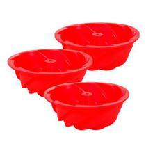 Jogo de mini forma redonda vermelha hauskraft 11 cm 03 peças - 31990