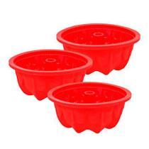 Jogo de mini forma redonda vermelha hauskraft 11 cm 03 peças - Etilux