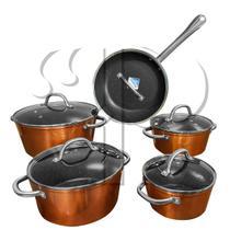Jogo de Panelas 5 Peças Indução Revestimento em Granito Antiaderente - Ipe Cozinhas