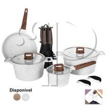Jogo de Panelas Antiaderente Granito Indução 16 Peças Cooklover - Ipe Cozinhas
