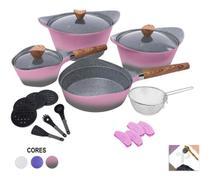 Jogo de Panelas Antiaderente Granito Indução 19 Peças Cooklover - Ipe Cozinhas