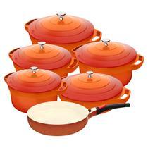 Jogo De Panelas Le Cook Com Revestimento Cerâmico - 6 Peças -