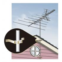Jogo de peças para fixar na parede mastro de antena externa de TV - Ge