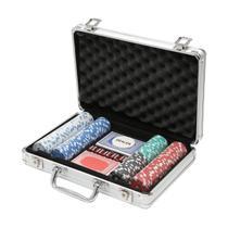 Jogo de Poker 200 fichas profissional com maleta de alumínio Prestige - 3211 -