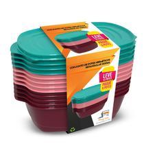 Jogo De Potes Herméticos Freezer 1600ml Pague 6 Leve 12 - PlugLar