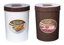 Jogo De Potes Para Café E Açúcar Amélia Fechamento Perfeito - Melida