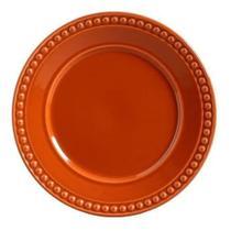 Jogo de prato raso atenas cantaloupe porto brasil - 6 peças -