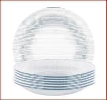 Jogo de pratos fundo 6 peças diamante - nadir -