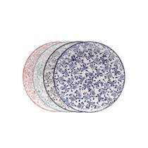 Jogo de pratos para sobremesa em porcelana Lyor Munique 22cm 4 peças -