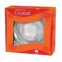 Jogo de Pratos Rasos 6 Peças Crystal - Wheaton -