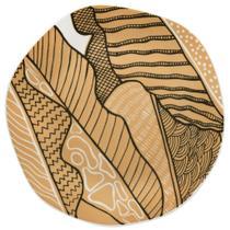Jogo de Pratos Rasos Porcelana Oxford Ryo Raízes 6 Unidades -