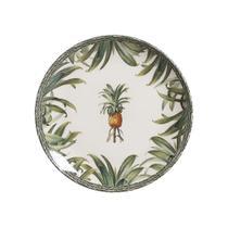 Jogo de Pratos Rasos Porto Brasil Pineapple Green 27 cm - 6 peças -