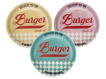 Jogo de Pratos Redondo Cerâmica 3 Peças - Daily Burger