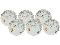Jogo de Pratos Redondo de Cerâmica Branco Raso - de Sobremesa Cerâmica Scalla Concept Belle 6 Peças