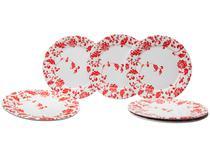 Jogo de Pratos Redondo de Cerâmica Branco Raso - Refeição Cerâmica Scalla Concept Belle 6 Peças