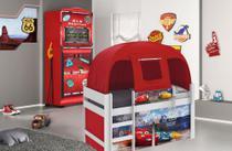 Jogo de Quarto Infantil Cama Carros Disney Play com Barraca e Guarda Roupa Gas Station Pura Magia -
