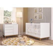 Jogo De Quarto Infantil Completa Móveis Meu Bebê CBINF06 Branco -