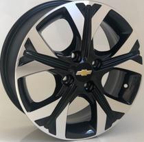 Jogo de roda aro 15 GM Onix Aro Preta Diamantada Furação 4x100 - Krmai