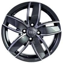 Jogo de Rodas Audi A3 Sportback Aro 15 x 6,0 4x100 ET36 K46 Grafite Diamantado - Kr Wheels
