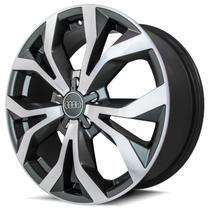Jogo de Rodas Audi RS6 Aro 18 x 7,0 5x100 ET40 R35 Grafite Diamantado - Kr Wheels