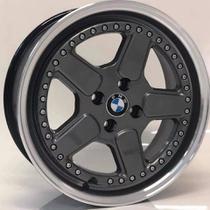 """Jogo de Rodas BMW clássica Aro 17"""" 4X100 - M14 - GD (grafite diamantada) - Krmai"""