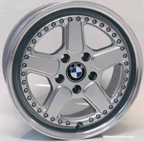 """Jogo de Rodas BMW clássica Aro 17"""" 5X120 - M14 - HD (prata diamantada) - Krmai"""
