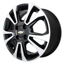 Jogo de Rodas Chevrolet Onix Ltz Aro 14 x 6,0 4x100 ET45 R42 Preto Diamantado - Kr Wheels