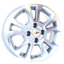 Jogo de Rodas Chevrolet Prisma Aro 15 x 6,0 4x100 ET45 R42 Prata Diamantado - Kr Wheels