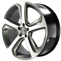 Jogo de Rodas Esportivas Audi Q5 Aro 17 x 7 5x100 ET40 MW080 Grafite Fosco Diamantado - Monacco Wheels