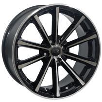 Jogo de Rodas Esportivas Concava Monaco Eclipse Aro 15 x 6,0 4x100 ET32 K63 Preto Diamantado - Kr Wheels