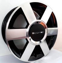"""Jogo de rodas Ford Fiesta Aro 15"""" - Scorro S181 - Furação 4x108 - DP -"""