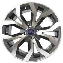 Jogo de Rodas Ford New Fiesta Aro 15 x 6,0 4x108 ET40 R35 Grafite Diamantado - Kr Wheels