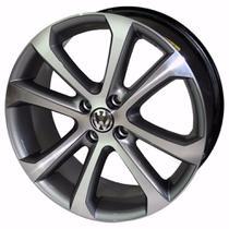 Jogo de Rodas Gol Power 2011 Aro 14 x 6,0 4x100 ET36 R10 Grafite Diamantado VW - Kr Wheels
