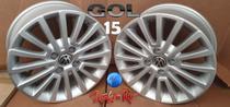 Jogo De Rodas Gol Rock in Rio Original VW Aro 15 -