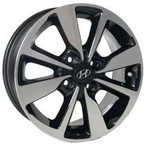 Jogo de Rodas Hyundai HB20s Premium Aro 15 x 6,0 4x100 ET42 S13 HB20 Preto Diamantado - Kr Wheels