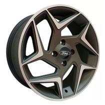 Jogo De Rodas New Fiesta Aro 15 x 6 4x108 ET40 Monacco Mw010 Ford Grafite Diamantado - Kr Wheels