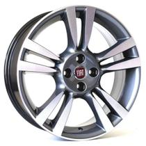 Jogo de Rodas Punto T-Jet Aro 15 x 6,0 4x98 ET36 R61 Fiat Grafite Diamantado - Kr Wheels