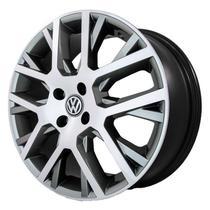 Jogo de Rodas Saveiro Cross Aro 15 x 6,0 4x100 ET40 R45 Volkswagen Grafite Diamantado - Kr Wheels